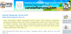 PPDB SMP Kabupaten Pegunungan Bintang