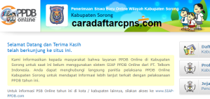 PPDB SMP Kabupaten Sorong