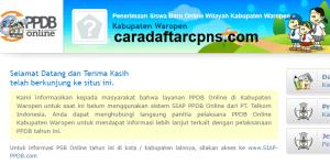 PPDB SMP Kabupaten Waropen