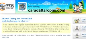 Pendaftaran PPDB Online SMA Kota Sorong 2019 2020