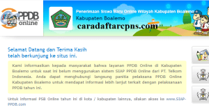 PPDB SMP Kabupaten Boalemo