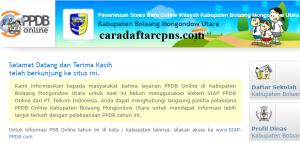 PPDB SMP Kabupaten Bolaang Mongondow Utara