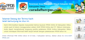 PPDB SMP Kabupaten Sikka