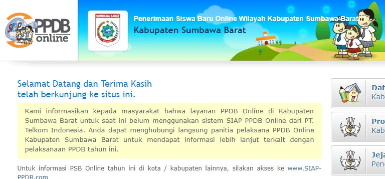 Pendaftaran Ppdb Online Sma Kabupaten Sumbawa Barat 2019 2020