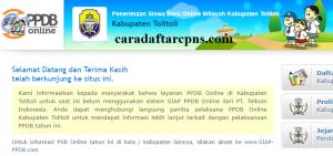 Jadwal PPDB SMA SMK Negeri Kab Tolitoli 2020 2021