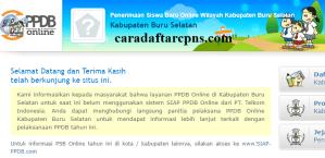 PPDB SMP Kabupaten Buru Selatan