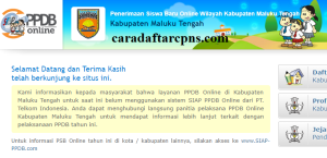 Jadwal Pendaftaran PPDB SMP Negeri 2020/2021 Kab Maluku Tengah