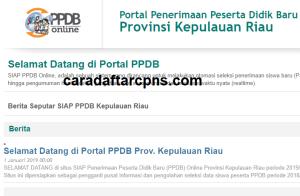 Pengumuman Hasil Seleksi PPDB SMA SMK Negeri Provinsi Kepulauan Riau 2020/2021