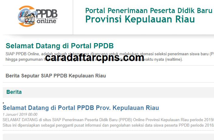 Jadwal Pendaftaran PPDB SMA SMK Negeri Provinsi Kepri 2021