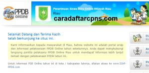 Pengumuman Hasil Seleksi PPDB SMA SMK Negeri Provinsi Riau 2020/2021