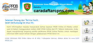 Pengumuman Hasil Seleksi PPDB SMA SMK Negeri Provinsi Maluku 2020/2021