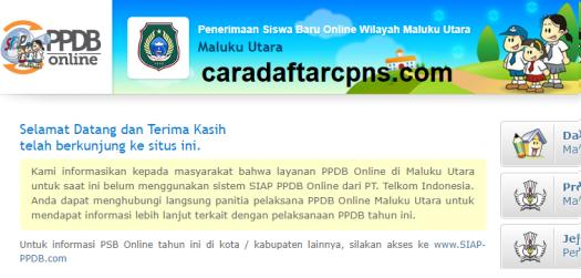 Pendaftaran PPDB SMA SMK Negeri Provinsi Maluku 2021
