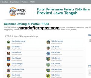 pendaftaran PPDB online SMA Provinsi Jawa Tengah 2019 2020