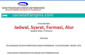 Jadwal dan syarat pendaftaran CPNS BPKP 2021