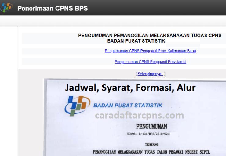Jadwal Pendaftaran CPNS 2021 BPS Lulusan SMA SMK D3 S1 S2