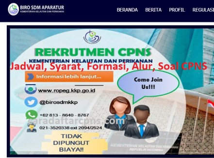 Jadwal dan syarat pendaftaran CPNS KKP 2021