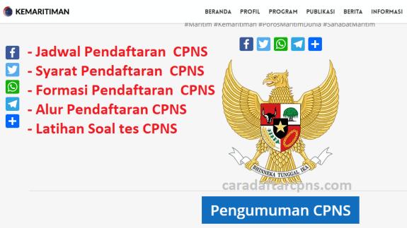 Jadwal dan syarat pendaftaran CPNS Kemenko Kemaritiman 2021