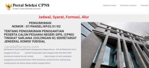 Pengumuman Hasil SKB CPNS Komisi Yudisial Formasi 2019
