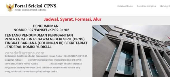 Jadwal dan syarat pendaftaran CPNS Komisi Yudisial 2021