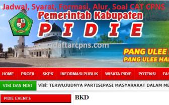 Pengumuman Hasil SKD CPNS KABUPATEN PIDIE 2021