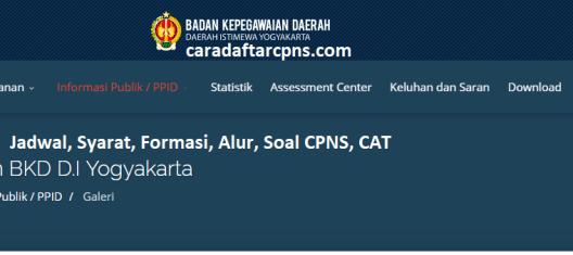 Hasil Seleksi Administrasi CPNS Pemprov Yogyakarta 2021