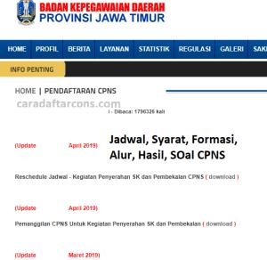 Jadwal Pendaftaran CPNS Pemprov Jatim 2021 Lulusan SMA SMK D3 S1 S2