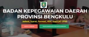 Jadwal Pendaftaran CPNS Pemprov Bengkulu 2021 Lulusan SMA SMK D3 S1 S2