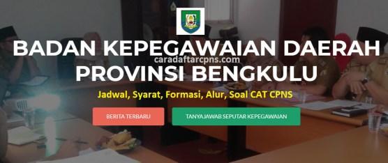 Hasil Seleksi Administrasi CPNS Pemprov Bengkulu 2021