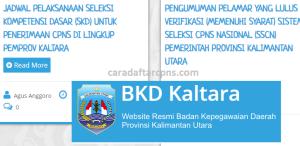 Pengumuman Hasil SKB CPNS Pemprov Kaltara Formasi 2019