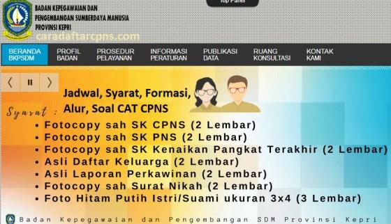 Hasil Seleksi Administrasi CPNS Pemprov Kepri 2021