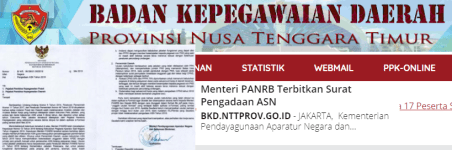 Pengumuman SKD CPNS PEMPROV NTT 2021