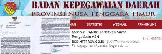 Hasil Seleksi Administrasi CPNS Pemprov NTT 2021