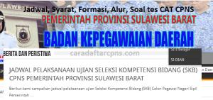 Jadwal Pendaftaran CPNS Pemprov Sulbar 2021 Lulusan SMA SMK D3 S1 S2
