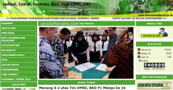 Hasil Seleksi Administrasi CPNS Pemprov Sumsel 2021