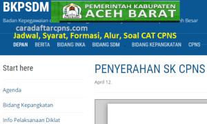 CPNS 2019 Kabupaten Aceh Barat