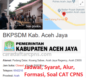 Jadwal Pendaftaran CPNS Kabupaten Pidie 2021 Lulusan SMA SMK D3 S1 S2