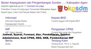Pengumuman CPNS Kabupaten Agam 2021 Lulusan SMA SMK D3 S1 S2