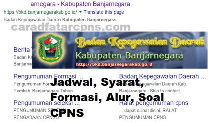 Pengumuman Hasil SKD CPNS KABUPATEN BANJARNEGARA 2021