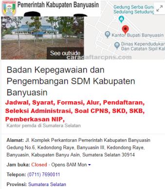 Pengumuman CPNS Kabupaten Banyuasin 2021 Lulusan SMA SMK D3 S1 S2