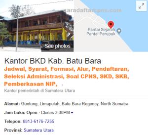 Jadwal dan Lokasi SKD CPNS Kab Batubara 2019 2020