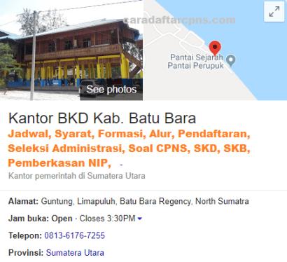 Jadwal Pendaftaran CPNS Kabupaten Batubara 2021 Lulusan SMA SMK D3 S1 S2