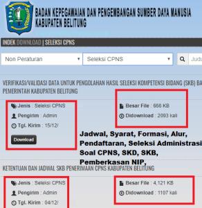 Pengumuman CPNS Kabupaten Belitung 2021 Lulusan SMA SMK D3 S1 S2