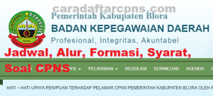 Pengumuman Hasil SKB CPNS Kabupaten Blora Formasi 2019