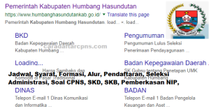Pengumuman Hasil SKB CPNS Kabupaten Humbang Hasundutan Formasi 2019