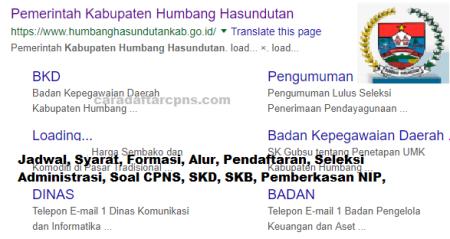 Jadwal Pendaftaran CPNS Kabupaten Humbang Hasundutan 2021 Lulusan SMA SMK D3 S1 S2