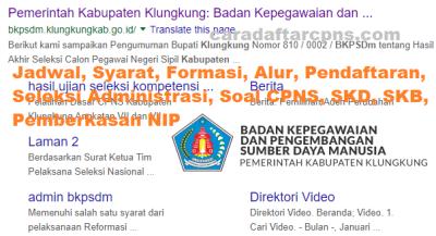 Jadwal Pendaftaran CPNS Kabupaten Klungkung 2021 Lulusan SMA SMK D3 S1 S2
