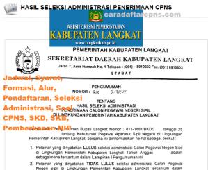 Jadwal SKB CPNS Kabupaten Langkat 2019 2020