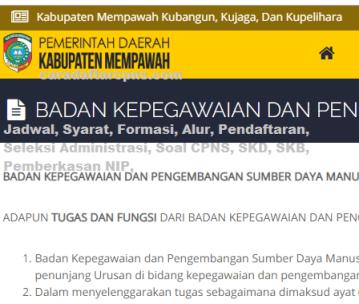 Pengumuman CPNS Kabupaten Mempawah 2021 Lulusan SMA SMK D3 S1 S2