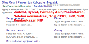 Jadwal SKB CPNS Kabupaten Nganjuk 2019 2020