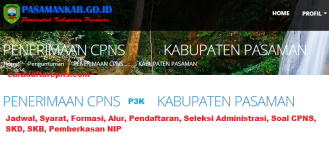 Pengumuman Hasil SKD CPNS KABUPATEN PASAMAN 2021